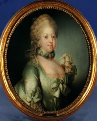 Queen Caroline Mathilde, born princess of England, married 1766 to King Christian 7th of Denmark